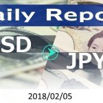 FX:為替 USD/JPY Dailyレポート 2018/02/05