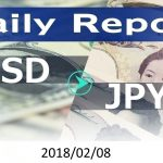FX:為替 USD/JPY Dailyレポート 2018/02/08