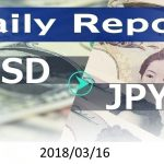 FX:為替 USD/JPY Dailyレポート 2018/03/16