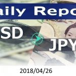 FX:為替 USD/JPY Dailyレポート 2018/04/26