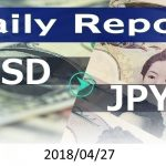 FX:為替 USD/JPY Dailyレポート 2018/04/27