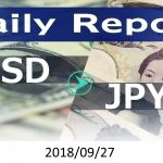 FX:為替 USD/JPY Dailyレポート 2018/09/27