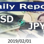 FX:為替 USD/JPY Dailyレポート 2019/02/01
